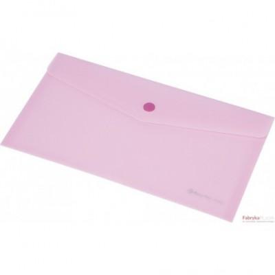 Teczka kopertowa z napą PP FOCUS A6 przezroczysta różowa Panta Plast