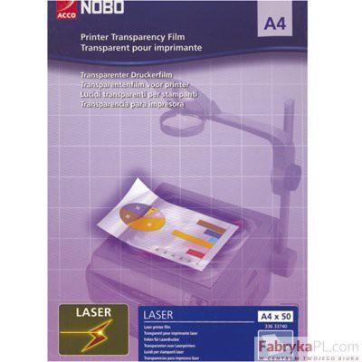 Folia Nobo A4 OHP do drukarek laserowych czarno-białych 50 szt