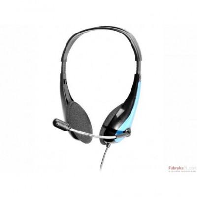 Słuchawki z mikrofonem TRACER OFFICE Mini-jack Czarno-niebieskie