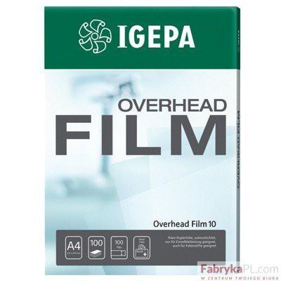Folia IGEPA Overhead Film 130 - Przezroczysta, dwustr. antystatycznie powlekana