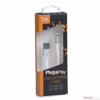 Kabel LIGHTNING USB biały PLUG&PLAY