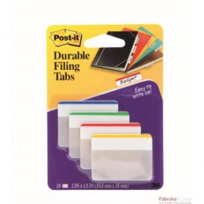 Zakładki indeksujące Post-it® 686-F1 do archiwizacji – proste, 4 kolory po 6 szt., 50,8mm x 38mm 3M