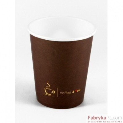 Kubek papierowy 150ml z nadrukiem COFFEE 4 YOU