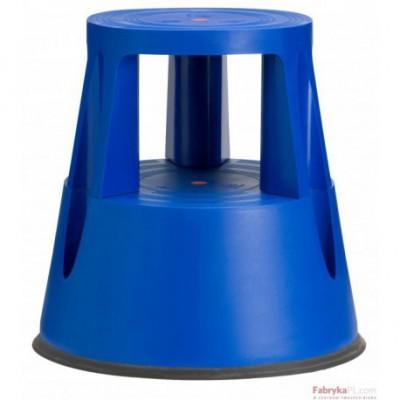 Taboret biurowy Twin Lift Niebieski dwustopniowy TWINCO