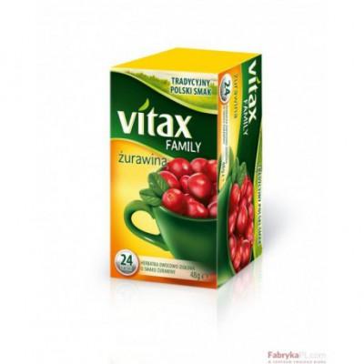 Herbata VITAX Family Żurawina 24TB/ 48g