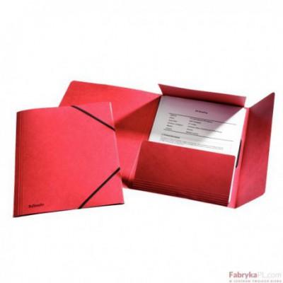 Teczka kartonowa z gumkami Esselte, czerwony