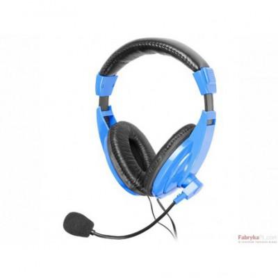 Słuchawki z mikrofonem TRACER EXPLODE BLUE Mini-jack Niebieski