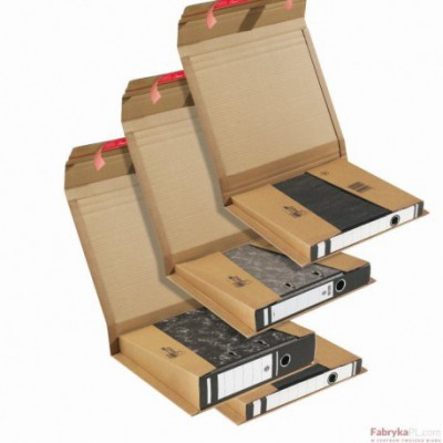 Uniwersalne opakowanie tekturowe brązowe HK do segregatorów 35-80 mm 320x290x35-80 / 365x300x-85mm