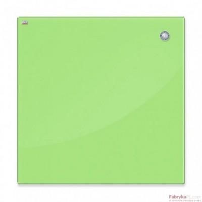 Tablica szklana magnetyczna 45x45 cm jasna zieleń 2x3