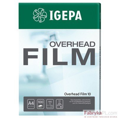 Folia IGEPA Overhead Film 102 - Przezroczysta, dwustr. Antystat.powlekana