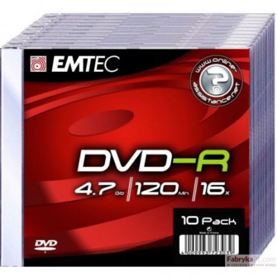 Płyta EMTEC DVD+R 4.7GB x19 Slim Jawel Case