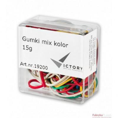 Gumki recepturki E&D PLASTIC mix kolor 15g plastikowe pudełko opak typ 6