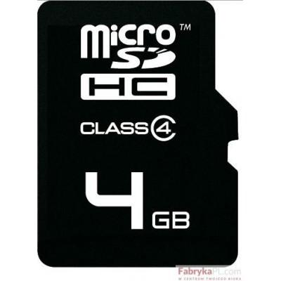Karta pamięci EMTEC MicroSDHC z adapterem SD 4GB Silver Class 4