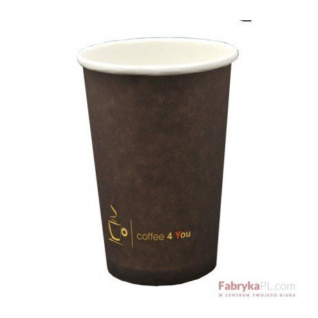Kubek papierowy 100ml z nadrukiem COFFEE 4 YOU