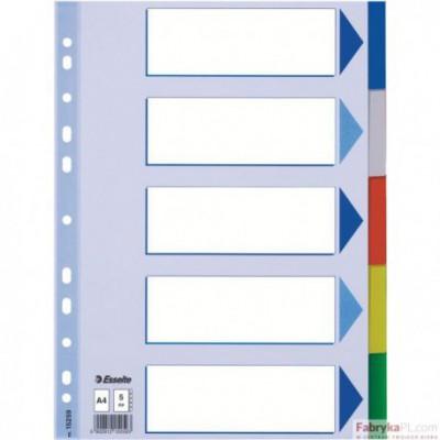 Przekładki plastikowe z PP A4 ESSELTE, 5 kart