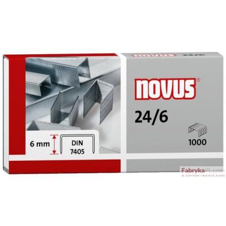 Zszywki NOVUS 24/6 DIN-opak.1000 szt.