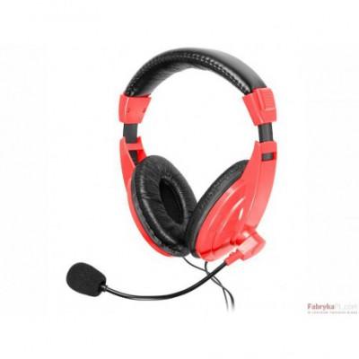 Słuchawki z mikrofonem TRACER EXPLODE RED Mini-jack Czerwony