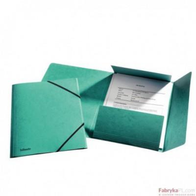 Teczka kartonowa z gumkami Esselte, zielony