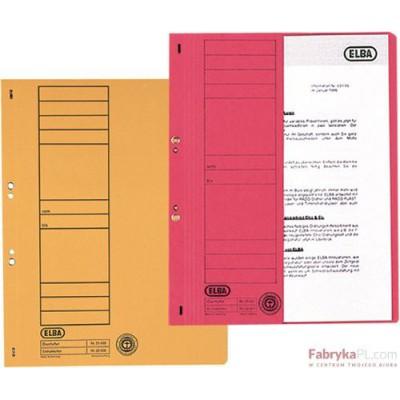 Skoroszyt kartonowy 1/2 A4 oczkowy pomarańczowy 100551881 ELBA