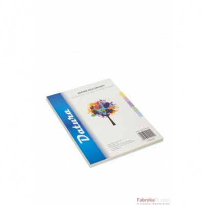 Papier xero kolorowy DATURA A4 80g (100) mix pastelowy