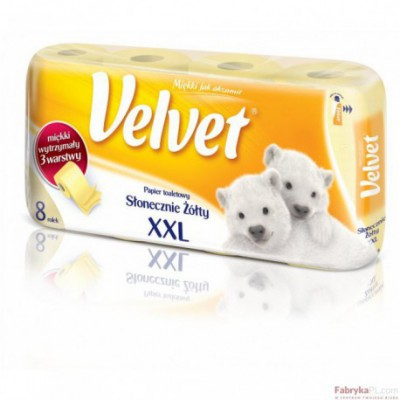 Papier toal.VELVET (8) żółty
