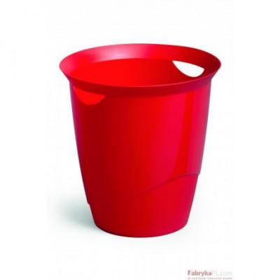 Kosz na śmieci DURABLE TRENDY 16l czerwony