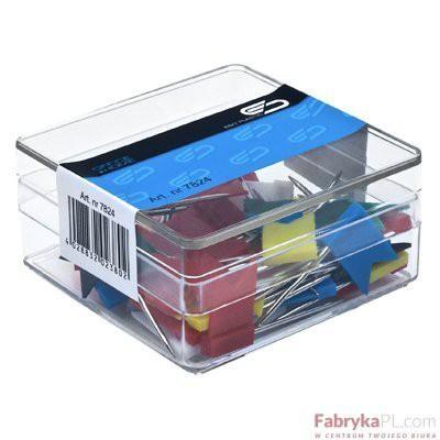Szpilki E&D Plastic chorągiewki kolorowe 40szt opakowanie plastikowe