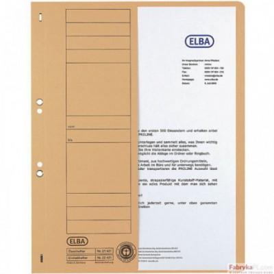 Skoroszyt kartonowy 1/2 A4 oczkowy niebieski 100551876 ELBA