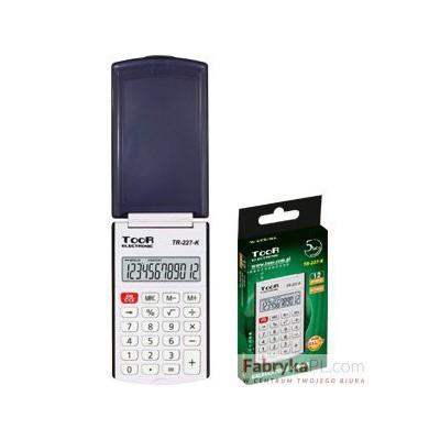 Kalkulator kieszonkowy TOOR TR-225 12-pozycyjny z klapką