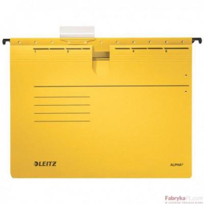 Skoroszyty zawieszane ALPHA, żółty Leitz