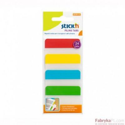 Przekładki indeksujące przeźroczyste 38X51mm 4 kolory STICK'N