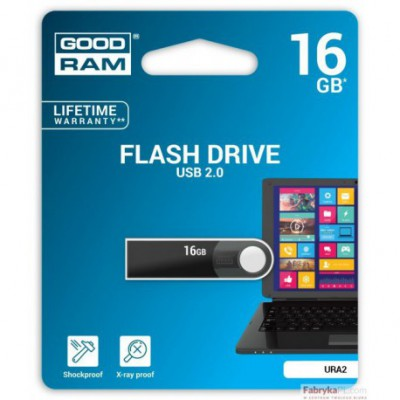 Pamięć USB GOODRAM 16 GB URA2 BLACK USB 20