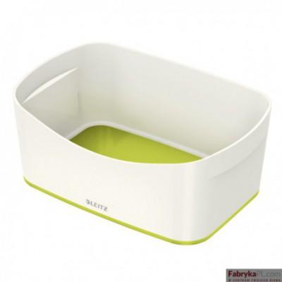 Pojemnik MyBOX bez pokrywki biało-zielony Leitz