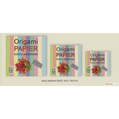 Papier ORIGAMI 10x10cm 100kartek pastele CORMORAN *3322