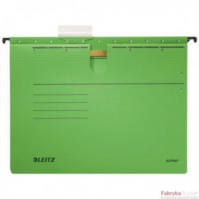 Skoroszyty zawieszane ALPHA, zielony Leitz