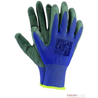 Rękawice powlekane RTELA niebiesko-szary rozmiar 7 Reis