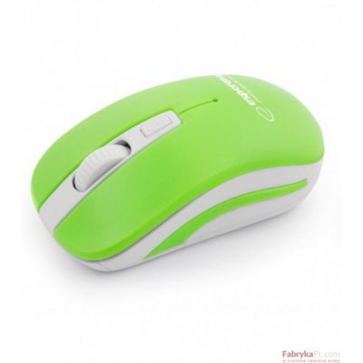 Mysz bezprzewodowa 24GHz URANUS zielonobiała ESPERANZA