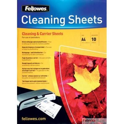 Carriery-arkusze czyszczące FELLOWES A4, 10 szt.