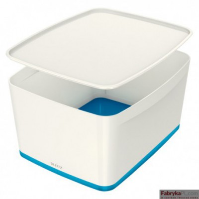 Pojemnik MyBOX duży z pokrywką biało-niebieski Leitz