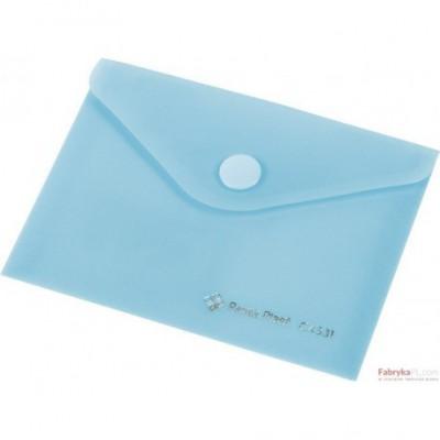 Teczka kopertowa z napą PP FOCUS A7 przezroczysta niebieska Panta Plast
