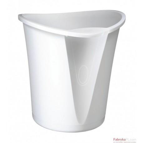 Kosz na śmieci LEITZ Allura, 18 litrów, Biały