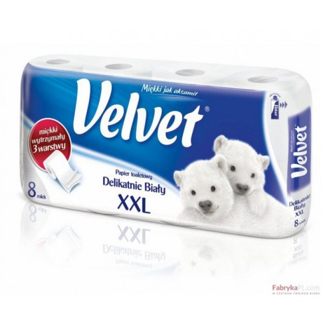 Papier toal.VELVET (8szt.) biały