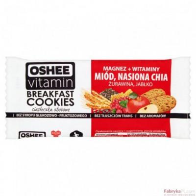 Oshee Vitamin Ciasteczka zbożowe 50g miód / nasiona CHIA/żurawina/jabłko