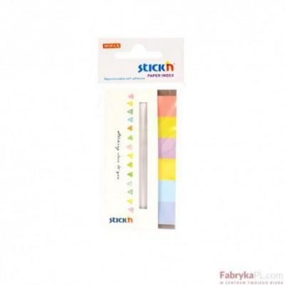 Zakładki indeksujące papierowe 45x15 mm 6 kolorów neonowych CANDY 180 kartek Stick'n