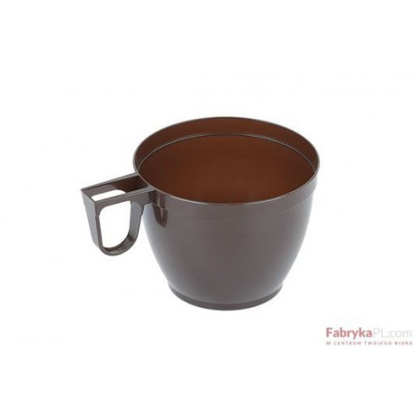 Filiżanka plastikowa brązowa 160ml (opakowanie 50szt)