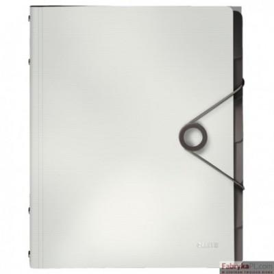 Teczka segregująca 6 przekładek PP Leitz Solid, biała 45691001