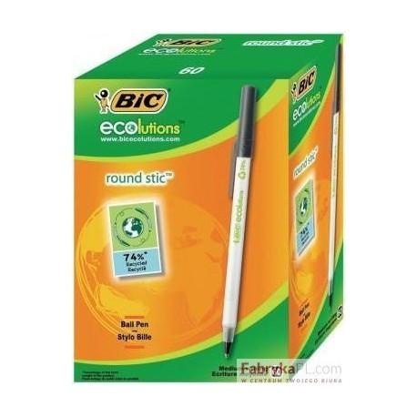 Długopis BIC Round Stic Czarny Pudełko 60