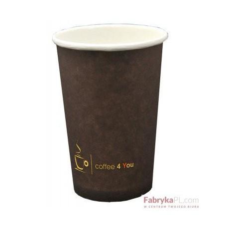Kubek papierowy 300ml z nadrukiem COFFEE 4 YOU