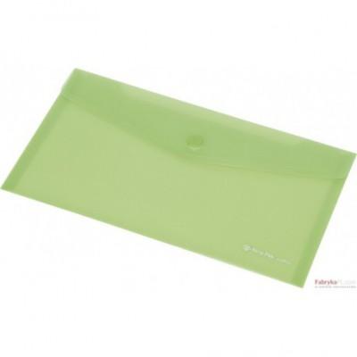 Teczka kopertowa z napą PP FOCUS A6 przezroczysta zielona Panta Plast