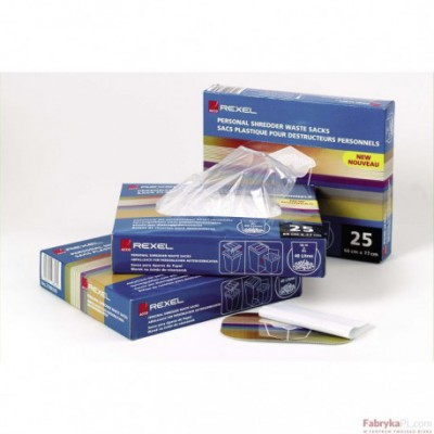 Plastikowe worki REXEL do niszczarek - AS100 (100 szt)